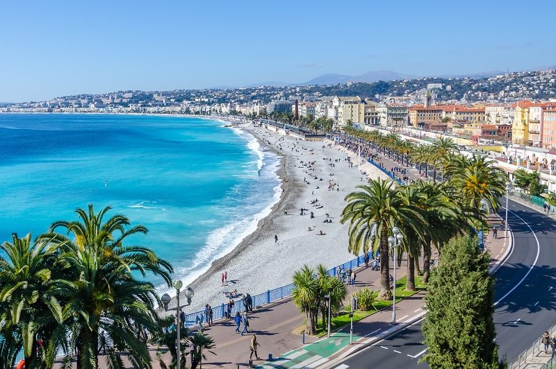 Front,View,Of,The,Mediterranean,Sea,,Bay,Of,Angels,,Nice,