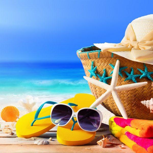 Beach,Accessories,On,Table,On,Beach,-,Summer,Holidays